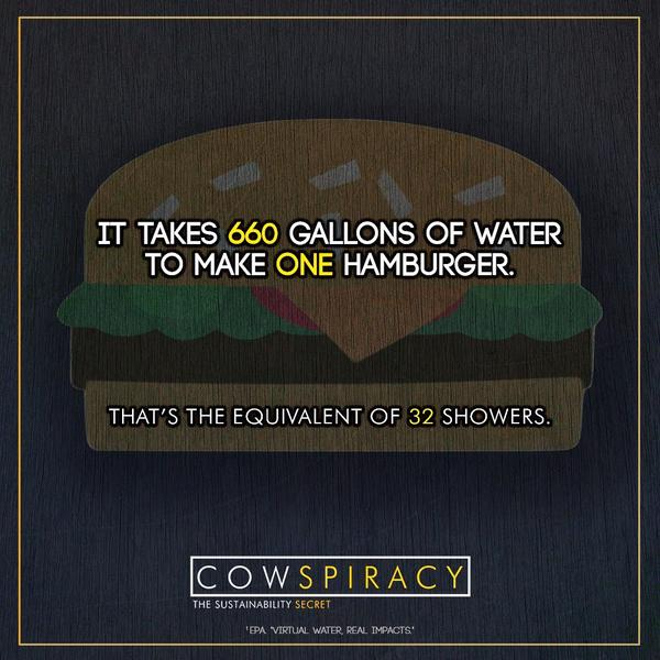 cowspiracy on twitter it takes 660 gallons of water to make 1
