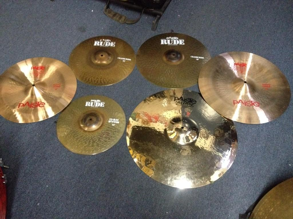 """Dave Lombardo on Twitter: """"Picked out my cymbal setup for ..."""