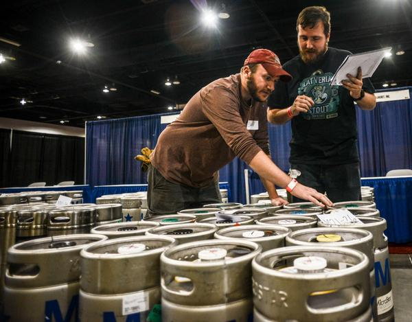 More than 3,200 volunteers will help pour 6,907 kegs of beer at #GABF this year. Thank you volunteers! http://t.co/m4XvMhivtb