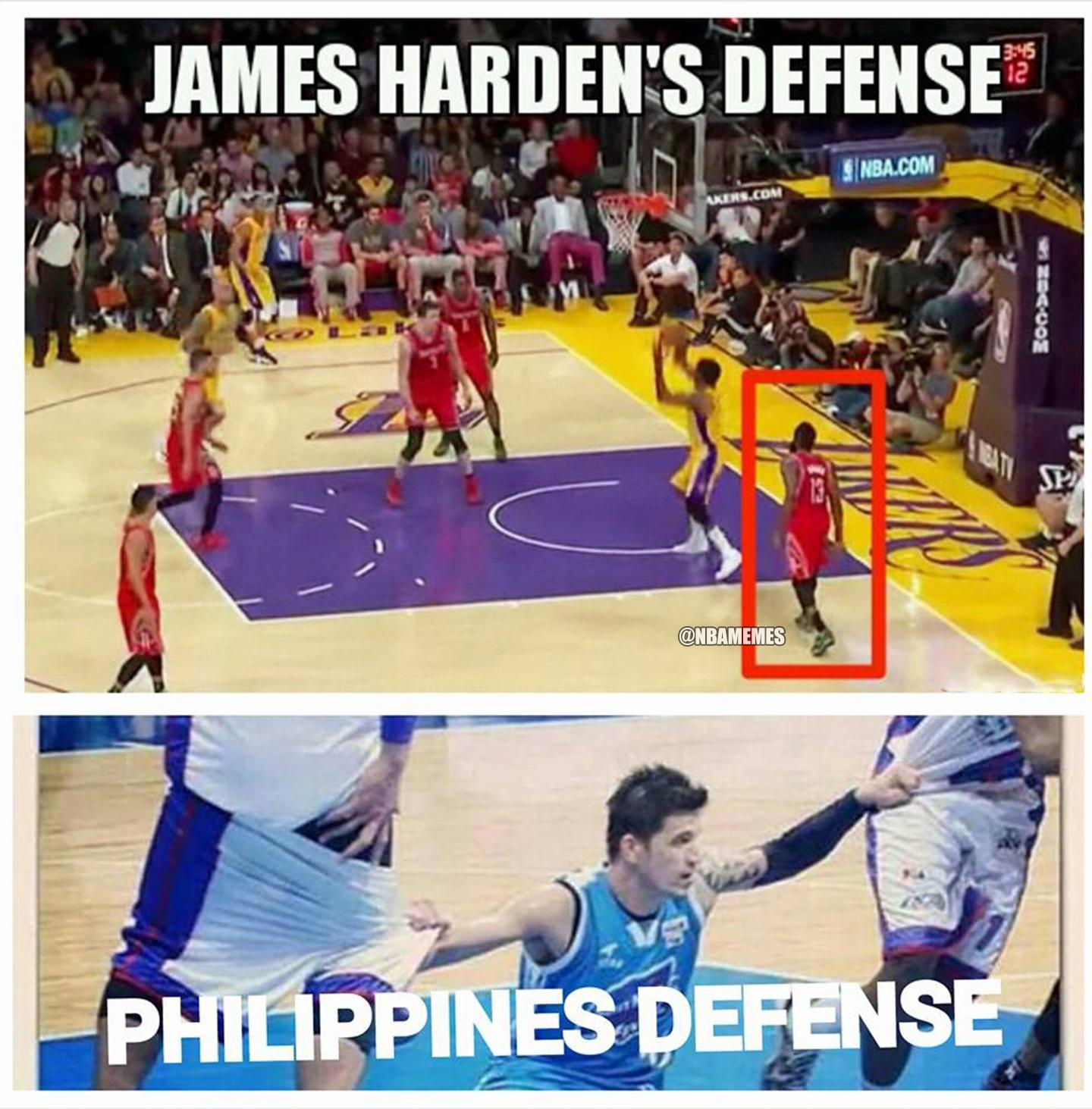Nba memes on twitter quot james harden vs philippines defense edition