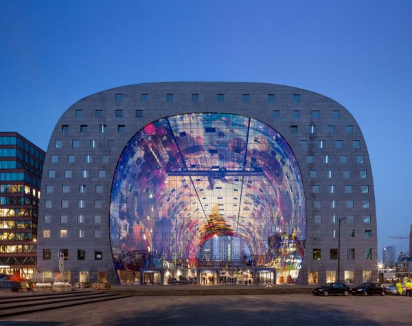 MVRDV's Markthal Rotterdam opens today! http://t.co/8lrFMigAj0 http://t.co/bH0H0baorj