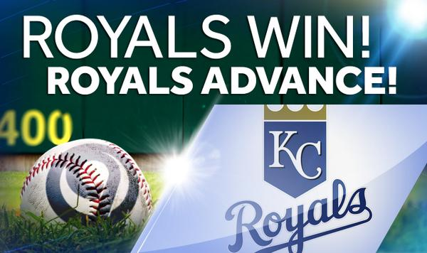 #ROYALS WIN! #ROYALS ADVANCE!  Welcome to October, Kansas City!  LIVE CELEBRATION UPDATES: http://t.co/WjVfnLwaSe http://t.co/xWSdF6ETOi
