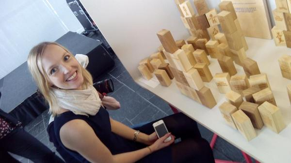 @DrCDemski in her element playing with blocks at #asenseofenergy http://t.co/KQR79RHza0
