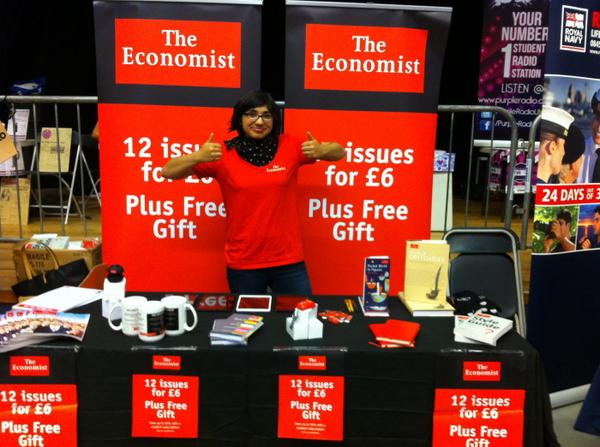 1/2 price student subscriptions to The Economist + a free gift! See you there, :) @durhamSU @CampusHQ #durhamsufairpic.twitter.com/g1FcmGIB0X