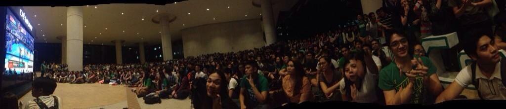 meanwhile in la salle... ��  photo by: @itsmariaaaaanne http://t.co/YuqfN9Y3zC