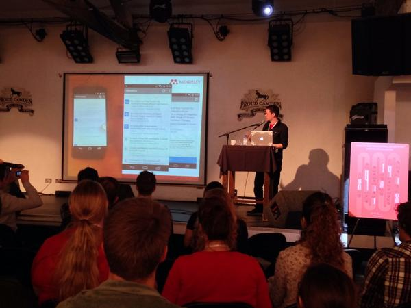 Preview of the new Mendeley Android App by @subcide at Mendeley Open Day! #mdod14 http://t.co/hLdXndQgMj