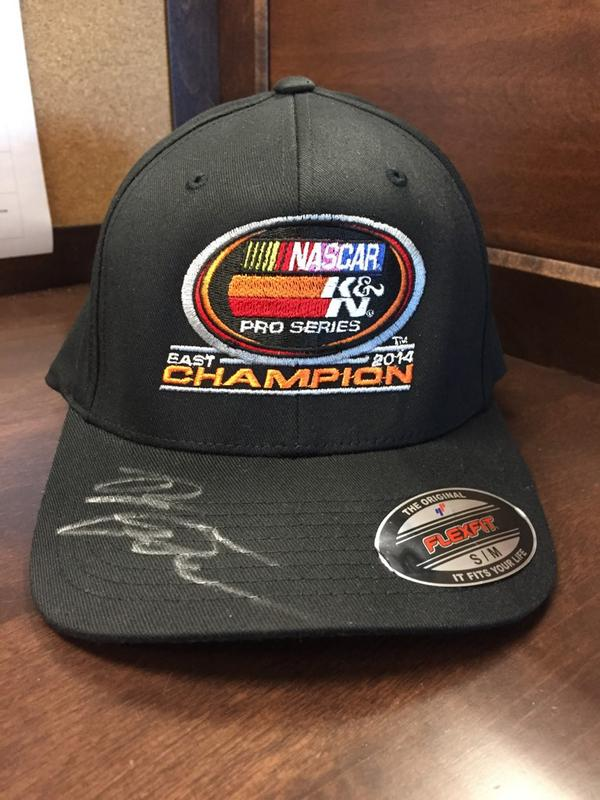 How about a giveaway. RT and you will enter to win this autographed @benrhodes #KNEast championship hat. #NASCAR http://t.co/khNZAm1Kay