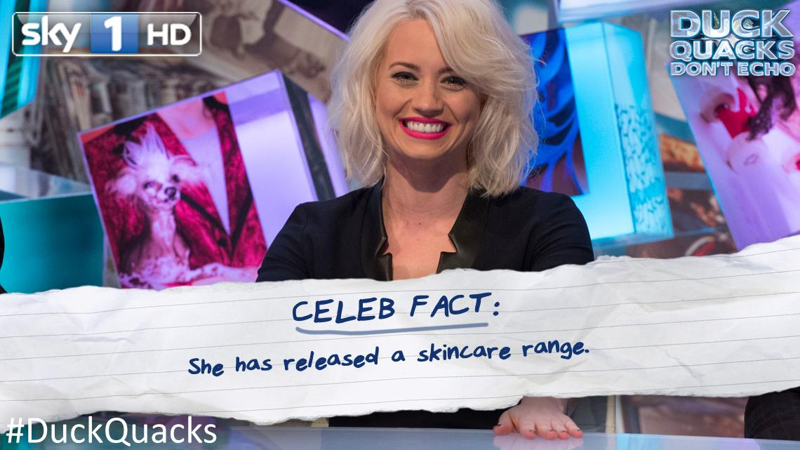 RT @sky1: Facts, facts, facts! Here's another: @KimberlyKWyatt joins @LeeMack and friends on #DuckQuacks Don't Echo, 8pm. http://t.co/L6lDw…