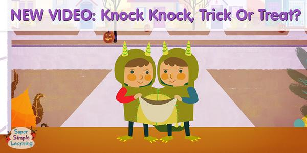 super simple on twitter new halloween video knock knock trick or treat who are you dressed up as httptcof5sftfeglh esl efl