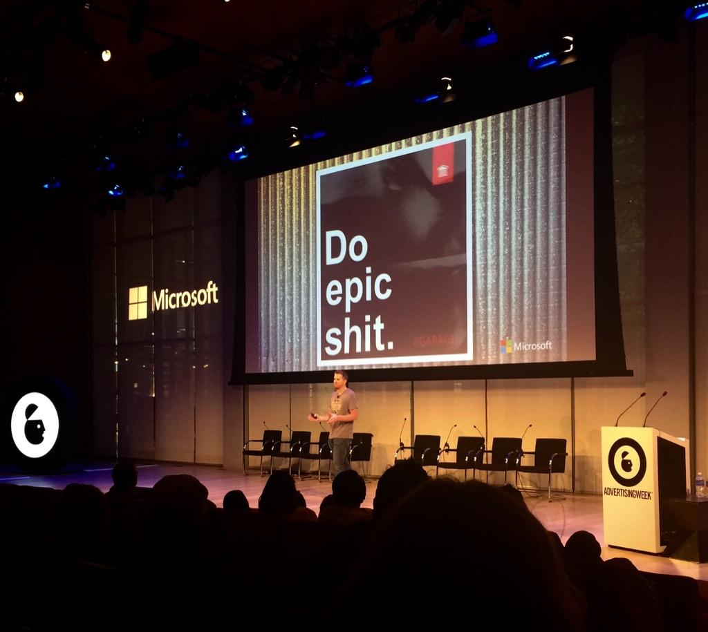 We need to think about how we can empower consumers to do epic sh*t themselves-Jeremy Grubaugh @Microsoft #AWXI http://t.co/z5SMJVr8JE