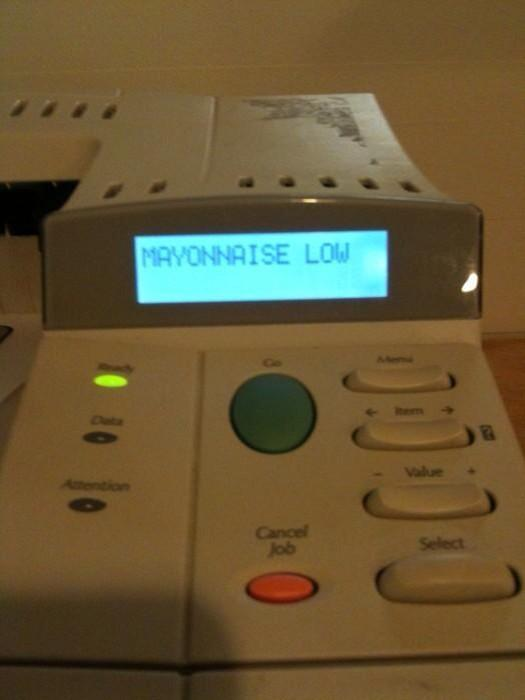 When your printer is low on mayonnaise.. http://t.co/iY4pvRwxWZ