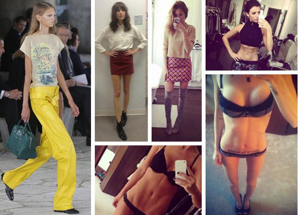 Super-skinny size 000 models are back on the catwalk ...