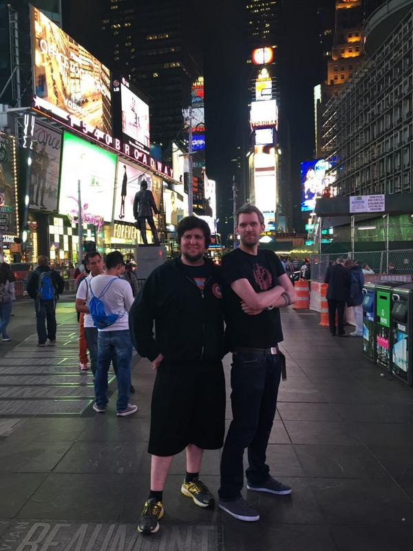 Me and @JonTronShow in Times Square, NYC is freaking amazing at night http://t.co/oVAXr4qzKX
