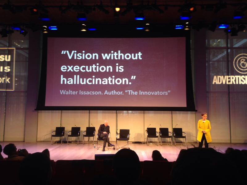 """Vision without execution is hallucination"" #Innovation @walterissacson @NigelMorris #AWXI http://t.co/RAGuOlQkqL"