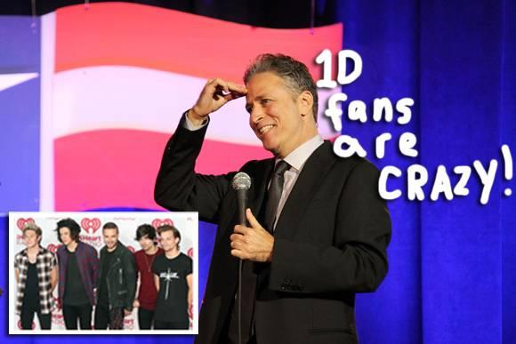 #OneDirection fans rally against Daily Show host #JonStewart! Don't mess with 1D! http://t.co/89soqMsWah http://t.co/UO2EMqLNba