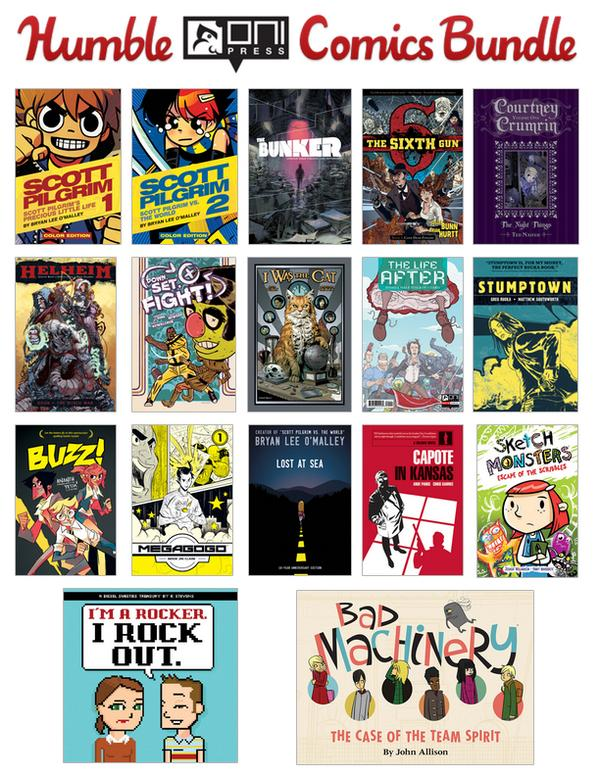The HUMBLE ONI PRESS COMICS BUNDLE is LIVE! Great comics to benefit a great charity! http://t.co/2sBxi3Si3L http://t.co/8s5FUlV798