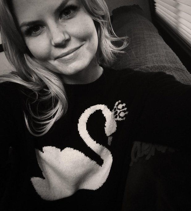 Day38: @REDValentino #swanqueen sweater arrived! Doublefacie w/ @LanaParrilla coming later! #101smiles