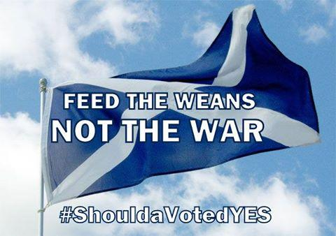@IanIwrussell @misslaurenreid @PaulFerris_Gla @DonaldLiddell Please RT this Feed The Weans Not The War #the45 http://t.co/bQwzBqB4Ny