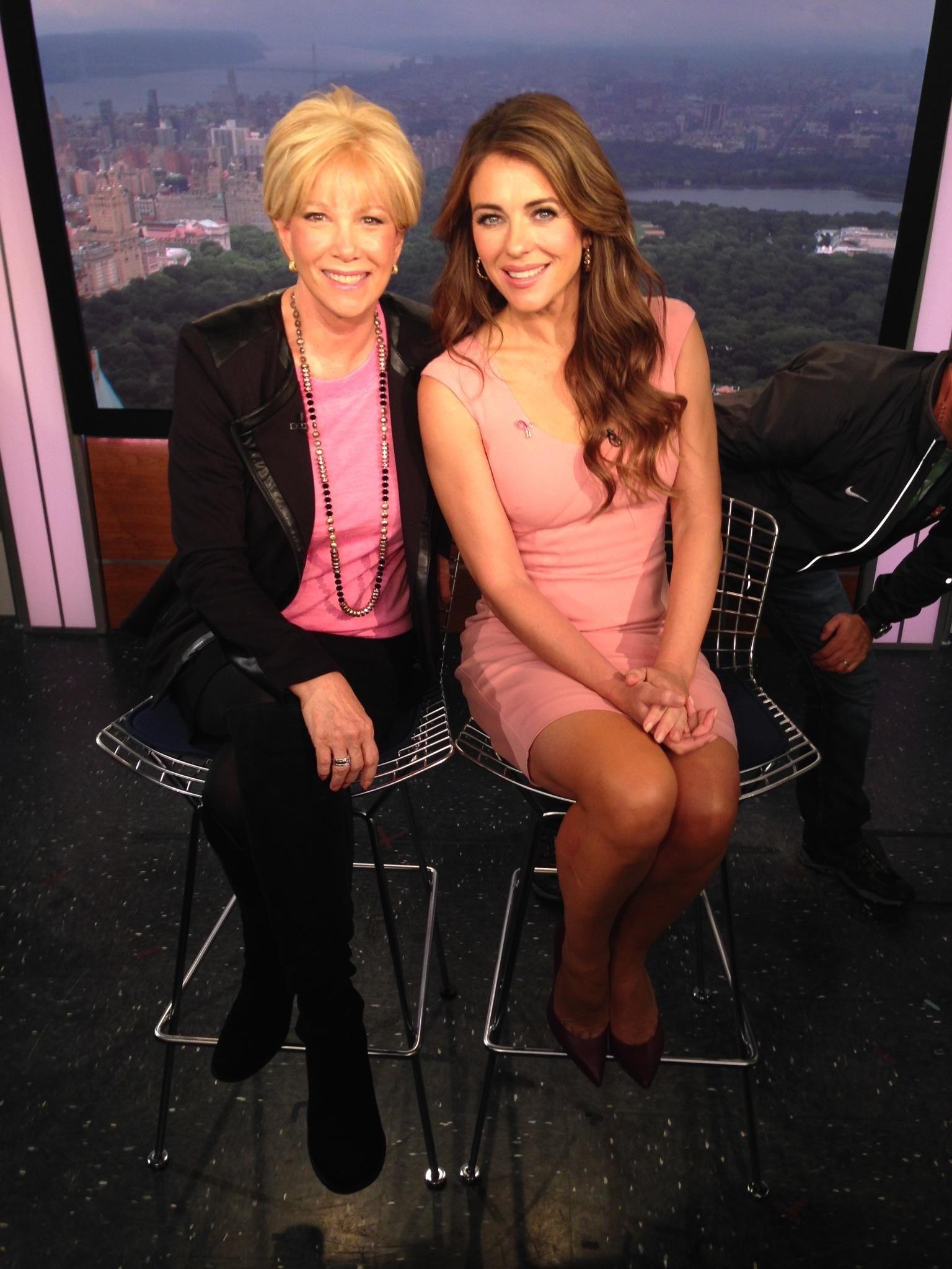 RT @JoanLunden: Great speaking with @ElizabethHurley about @EsteeLauder 's Breast Cancer Awareness Campaign today on @LiveAccess! http://t.…