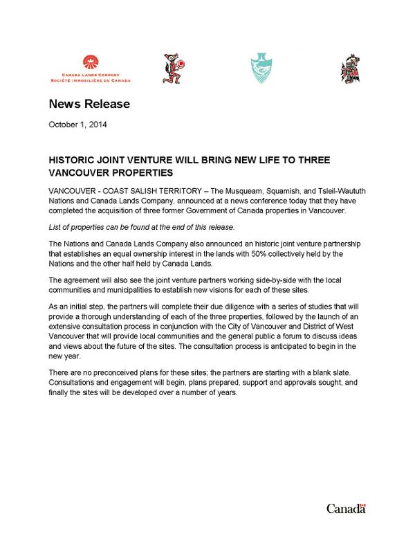 Ubcic On Twitter Historic Joint Venture Will Bring New Life To