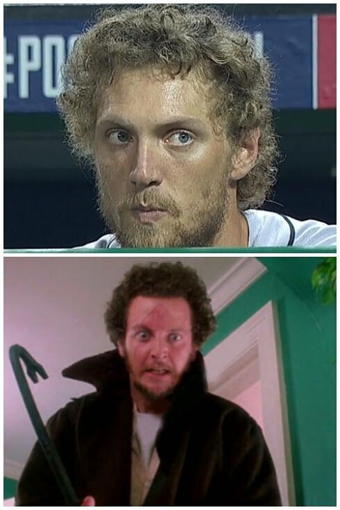 Hunter Pence is a little strange, but it makes sense, he went through a lot in the 90s. http://t.co/1a4RnTQ5z1