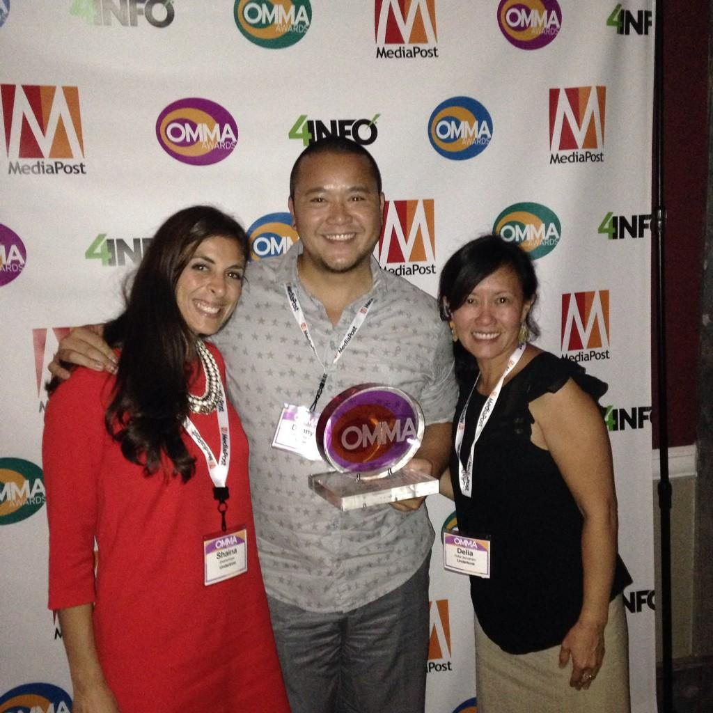BEYOND thrilled for the win w/our partner, @AccessUndertone for our Juego Bonito campaign for @dishlatino #ommaawards http://t.co/VCONsB61Xb