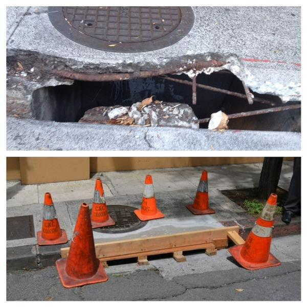 @MayorKirkHNL has a great team. They fixed this storm drain in downtown #Honolulu within days of learning about it. http://t.co/kdRpMrYTd7
