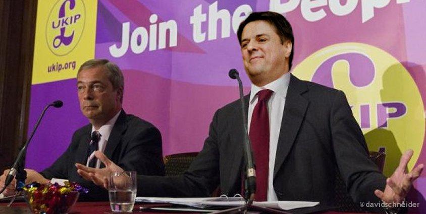 Triumphant Farage reveals latest defector to UKIP (ta @Ross_Owen) http://t.co/r7DNsza1uI