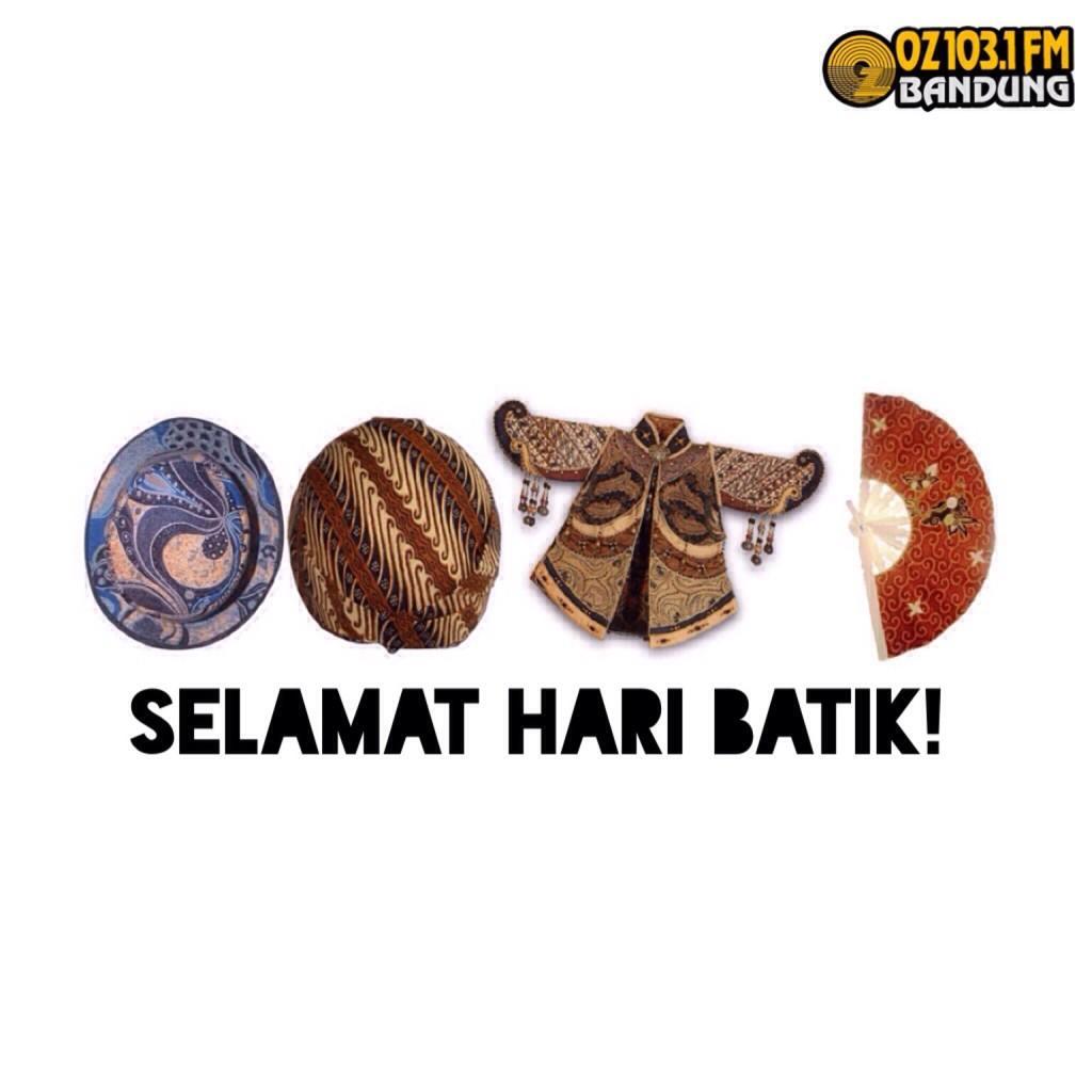Hari ini pake batik yu!  #OOTD Obral Obrol Theo Decil @ozradiobandung sampe jam 10! http://t.co/h5Qq7MtvUf