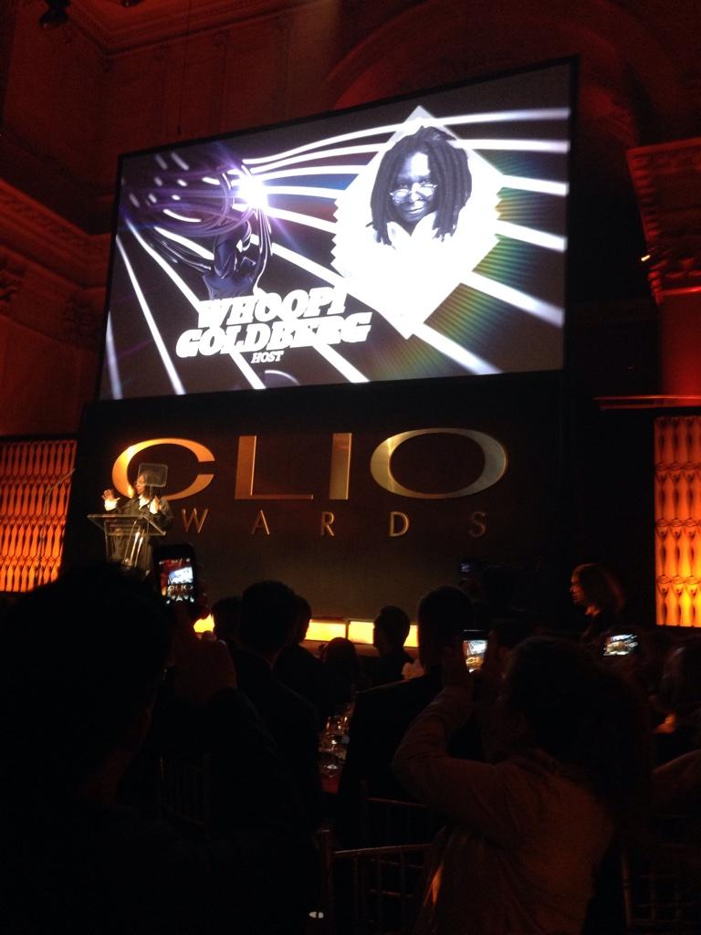 #CLIO55 is on with Whoopi. @CLIOAwards http://t.co/i700npc4w1