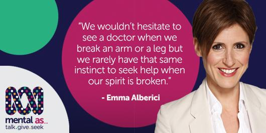 Emma Alberici is helping the ABC join the dots on mental health in Australia. http://t.co/uPq3cItdp8 #MentalAs http://t.co/dwuc9Yw63i
