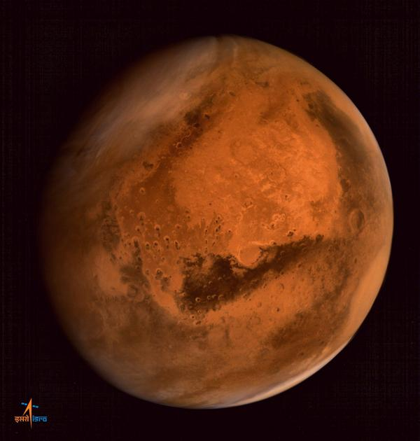 """@TIME: See the stunning new portrait of Mars from India's MOM spacecraft. Photo: @marsorbiter http://t.co/CyN4wMgXbR http://t.co/IZms51rUvu"