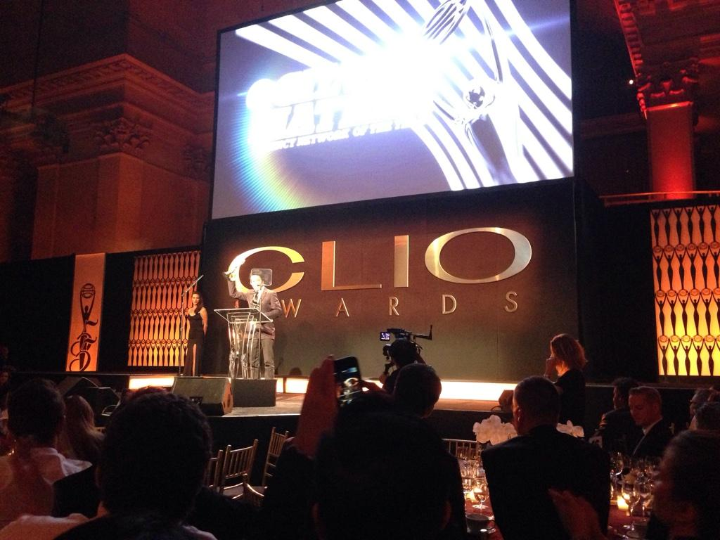 Network of the Year winner for the third year in a row at the @CLIOAwards! Congrats to our entire network. #CLIO55 http://t.co/RwRy5rqRa7