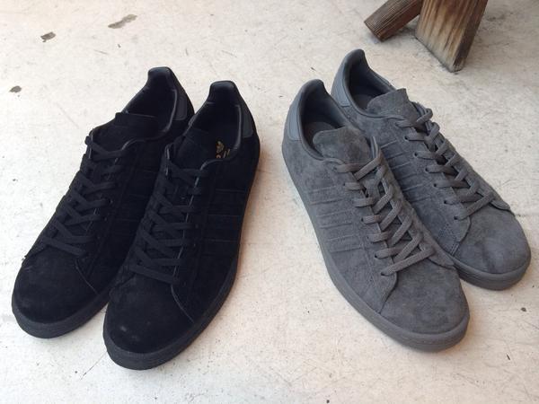 adidasよりCAMPUS 80Sが入荷してきました!BLACKとGRAYの二色展開になります。どちらもかなり良い感じです!是非ご覧にいらして下さい!¥14,000+TAX- http://t.co/ezCOtXRtn4