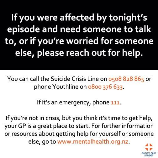 If you have been affected by tonight's episode of #ShortlandStreet ,there are places you can go. http://t.co/vzcw9jxI5J