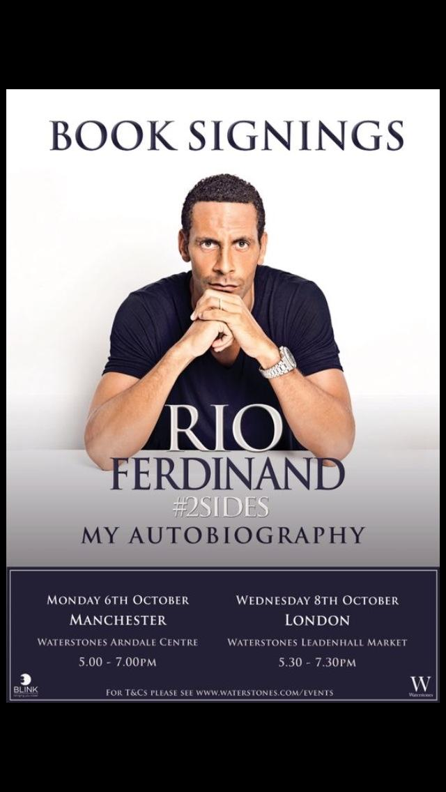 for you guys asking where I will be signing my new book see you in Manchester and London soon! #2sides. http://t.co/WKhGmPaAZw