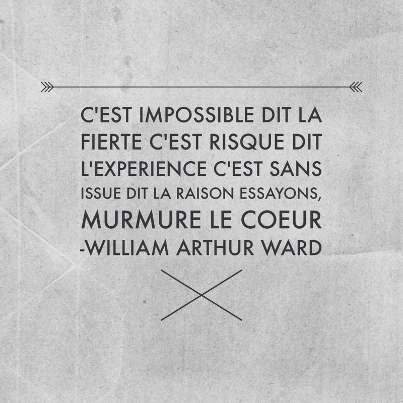 citation c'est impossible dit la fierte