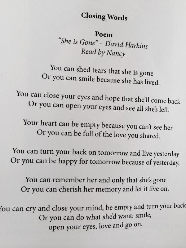 Nicky Campbell On Twitter Lovely Poem From My Aunt Lornas Service