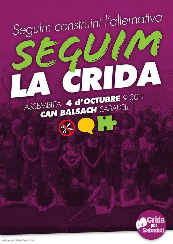 Crida per Sabadell on Twitter