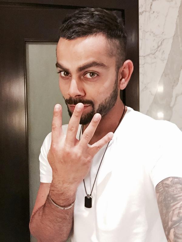 Virat Kohli On Twitter Heres The 4 Million Follower Selfie Hope