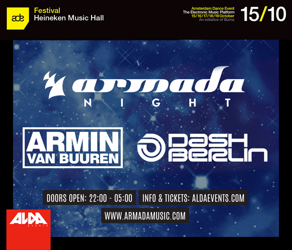 NEWS: Armada Night adds @arminvanbuuren and @DashBerlin to the line up and relocates to @HMH! http://t.co/W4nI8tNdz0 http://t.co/9kq2u8e015