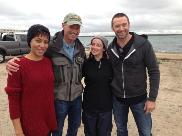 @cwoodtrout striper fished with The River cast @RealHughJackman, @CushJumbo and Laura Donelley http://t.co/sjVOUi2In6 http://t.co/TnCZrFXB7A