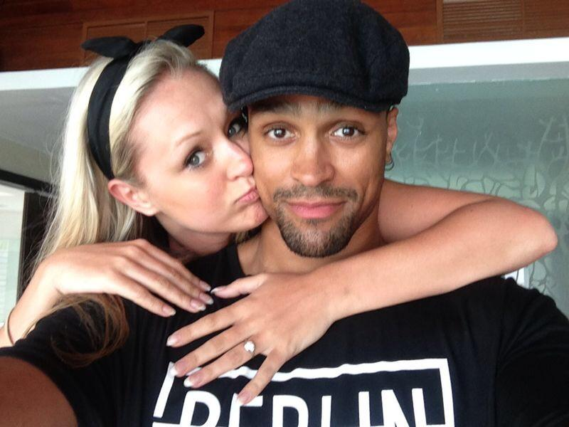"""""""@AshleyBanjo: @FrancescaAbbott what a week.😊 So excited to marry you x http://t.co/DaSqb9RGW6""""  YEEEESSSS!! So happy for you guys!! 😆👰💍"""