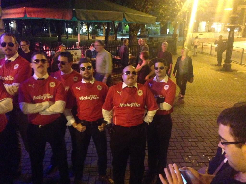 A Group Of Lads Went On Stag Party Saay Night All Dressed As Cardiff S Vincent Tan