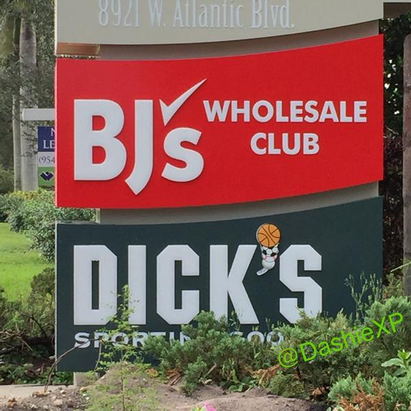 A dicks next to a bjs I bet they did this shit on purpose lmao 😂