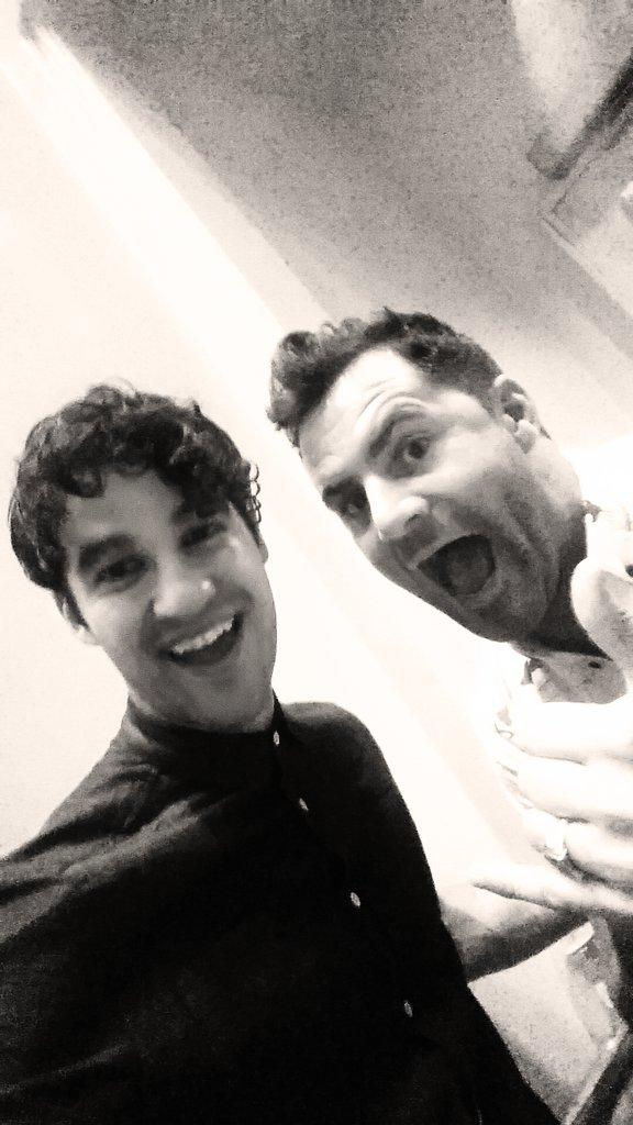 Lazy selfie with @DarrenCriss from Glee last night #iheartradio http://t.co/JkhKAx2E3N