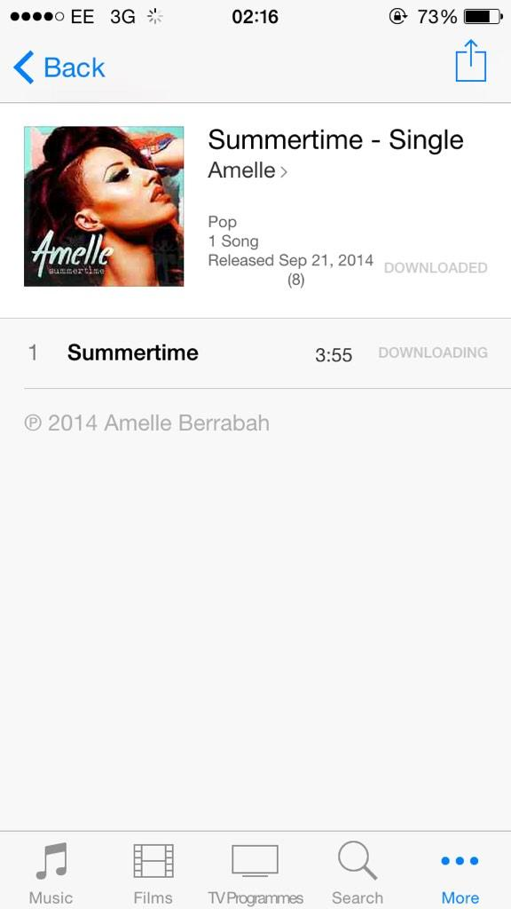 RT @_boooosh: Yay. One of my favourites @Amelle_Berrabah has a single out. http://t.co/rvF40EboMn