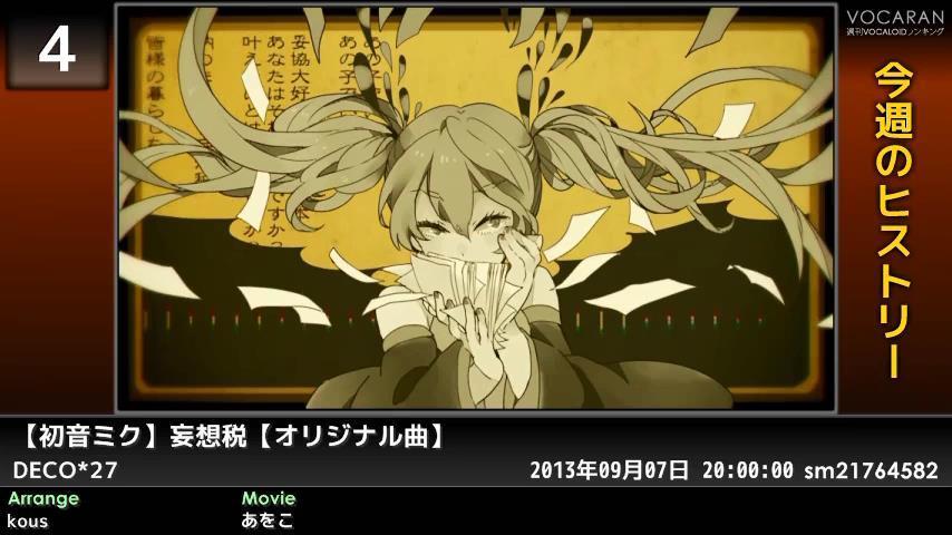 週刊VOCALOIDとUTAUランキング #362・304 [Vocaloid Weekly Ranking #362] ByB_A0HCQAA5xIh