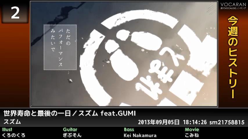 週刊VOCALOIDとUTAUランキング #362・304 [Vocaloid Weekly Ranking #362] ByB_gaeCQAEDzu3
