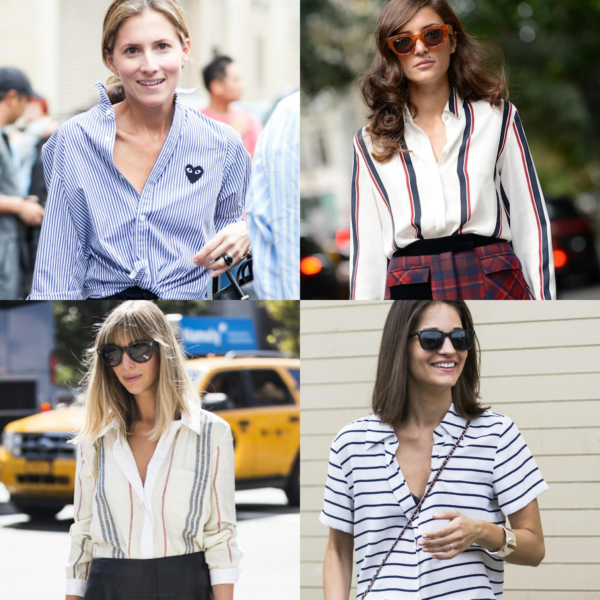 The stripe shirt is a fashion week hit, get in line. #FashionReboot http://t.co/AS7II2MZcL http://t.co/NKKkAasbsW
